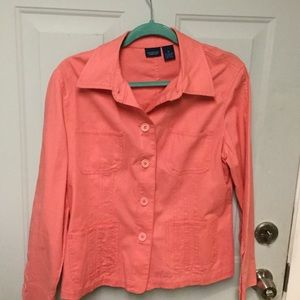 Pretty Coral color jeans jacket-spring or summer